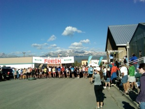Runners line up for the Leadville Marathon